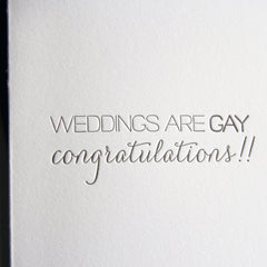 Weddings Are Gay Card
