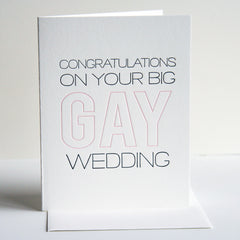 Big Gay Wedding Card
