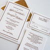 Classic Elegant Letterpress Wedding Invitation