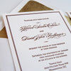 Classic Elegant Letterpress Wedding Invitation Chicago