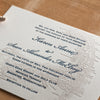 Cape Cod Letterpress Wedding Invitation