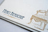 French Vintage Letterpress Wedding Invitation