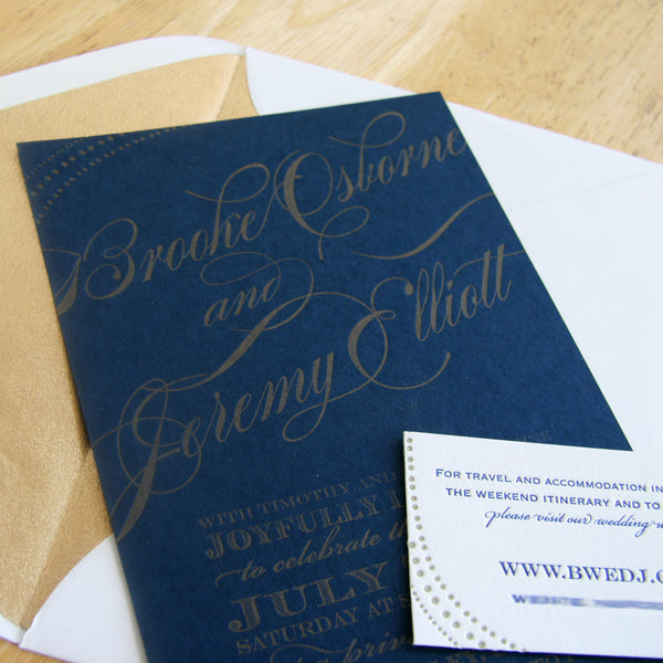 Navy and Gold | Steel Petal Press