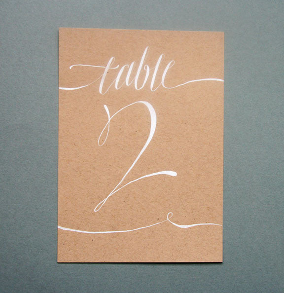 Table Numbers | Steel Petal Press