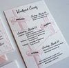 Whistler Destination Letterpress Wedding Invitation