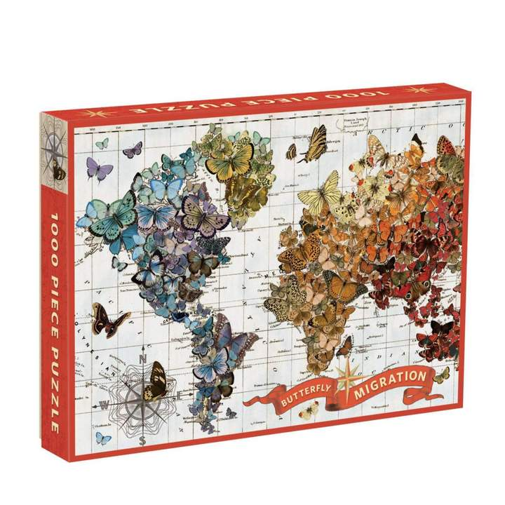 Butterfly Migration Map 1000 Piece Puzzle