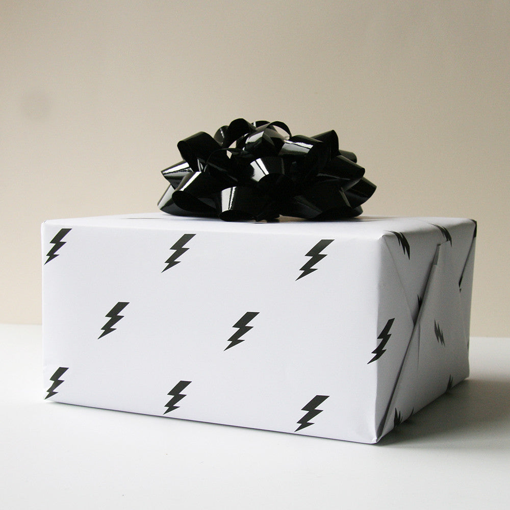 Lightning Bolt Gift Wrap - Steel Petal Press