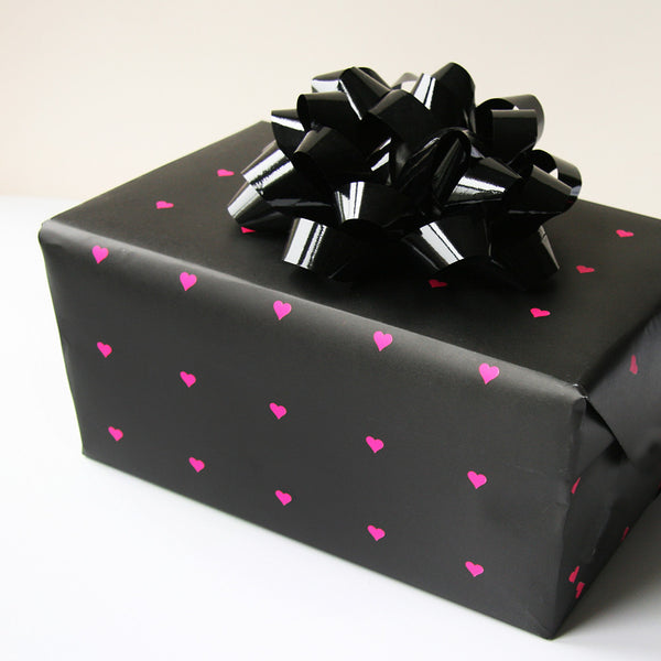 Neon Heart Gift Wrap | Steel Petal Press
