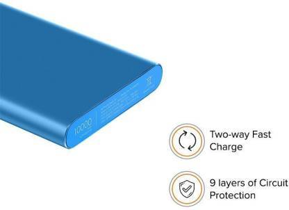 Mi 10000 mAh Power Bank (Fast Charging, 18 W)  (Blue, Lithium Polymer) - DefenceElectronics