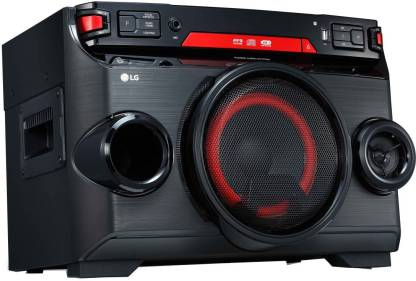 LG OK45 XBOOM 220 W Bluetooth Party Speaker  (Black Red Deco, Mono Channel)