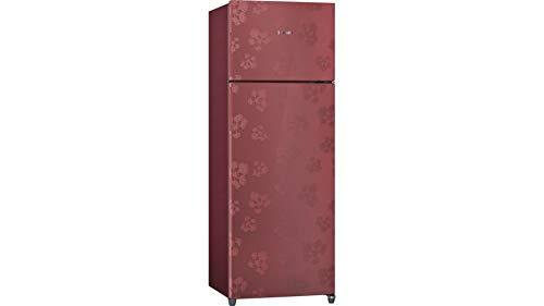 Bosch 3 Star Frost-Free Double Door Refrigerator, 288 L (KDN30VV30I, Wine Red) - DefenceElectronics