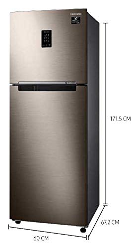 Samsung 336 L 2 Star Inverter Frost-Free Double Door Refrigerator (RT37T4632DX/HL, Luxe Brown, Convertible)