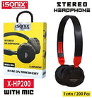 ISONIX Stereo Headphone X-HP200 - DefenceElectronics