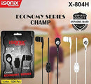 ISONIX Ear Phone Dynamic BASS X-804H - DefenceElectronics