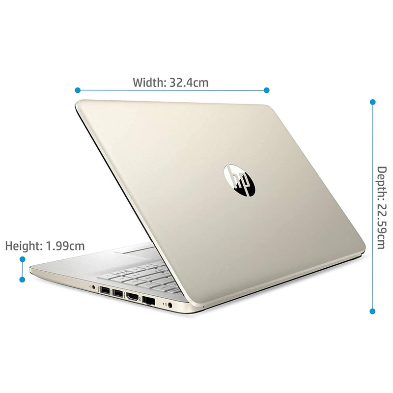 HP 14 10th Gen Intel Core i3 14-inch FHD Laptop(i3-1005G1/8GB/512GB SSD/Win 10/MS Office/Win 10/Natural Silver/1.46 kg), 14s-dr1008tu
