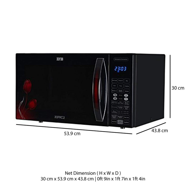IFB 30 L Convection Microwave Oven (30FRC2, Floral Pattern) (Black) - DefenceElectronics
