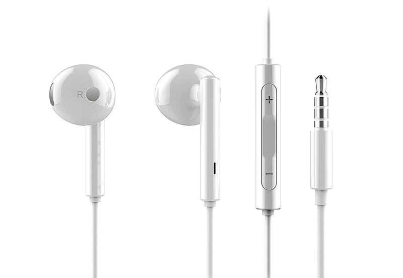 Honor AM115 Half in-Ear Earphones with mic (White)
