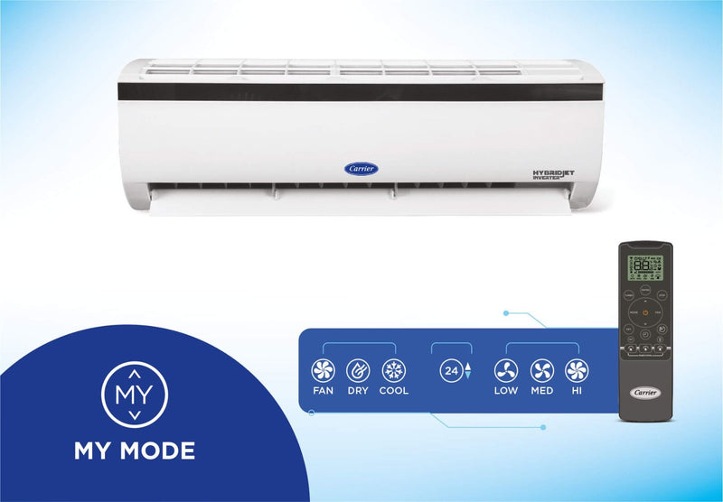 Carrier Durafresh Nxi 1.5 Ton 5 Star Hybridjet Inverter AC with Flexicool Technology