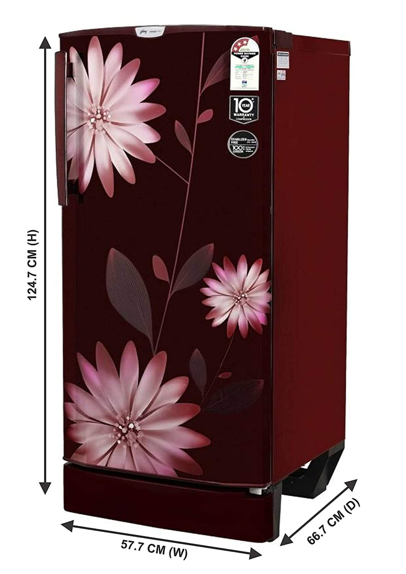 Godrej 190 L 3 Star ( 2019 ) Direct Cool Single Door Refrigerator(R D EPro 205 TAF 3.2 STR BLU, Star Blue) - DefenceElectronics