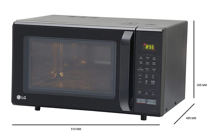 LG 28 L Convection Microwave Oven (MC2846BG, Black) with Free Starter Kit