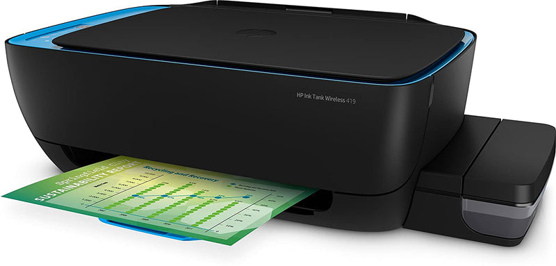 HP 419 All-in-One Wireless Ink Tank Color Printer with Voice-Activated Printing(Works with Alexa and Google Voice- Assistant - DefenceElectronics