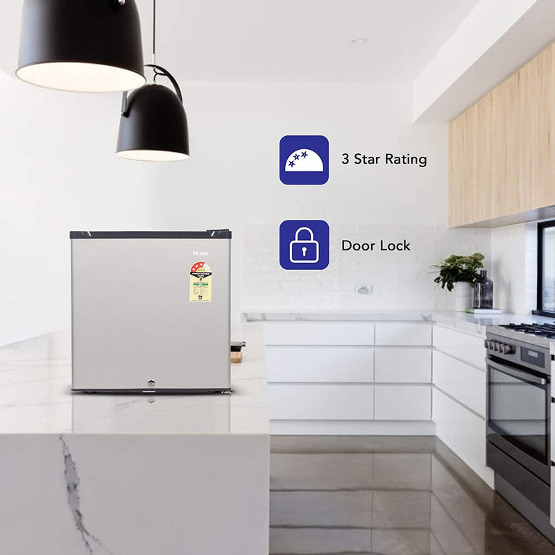 Haier 52 L 3 Star ( 2019 ) Direct Cool Single Door Refrigerator(HR-62VS, Silver) - DefenceElectronics
