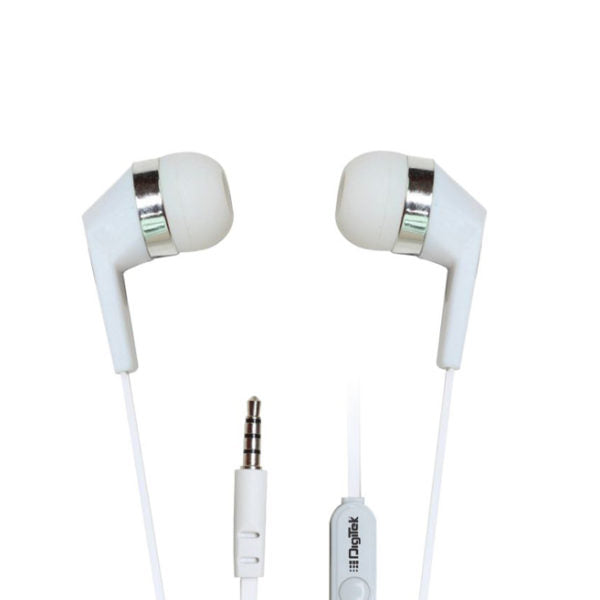 Digitek Stereophone with mic : Enhanced bass,noice isolating Earphone