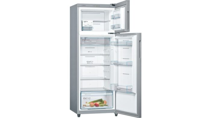 Bosch KDN42UN30I Serie 4 free-standing fridge-freezer with freezer at top 327L, 3 Star, Inox Metallic