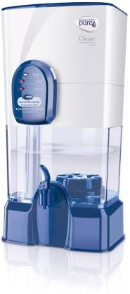 Pureit by HUL Classic 14 L Gravity Based Water Purifier  (White and Blue)