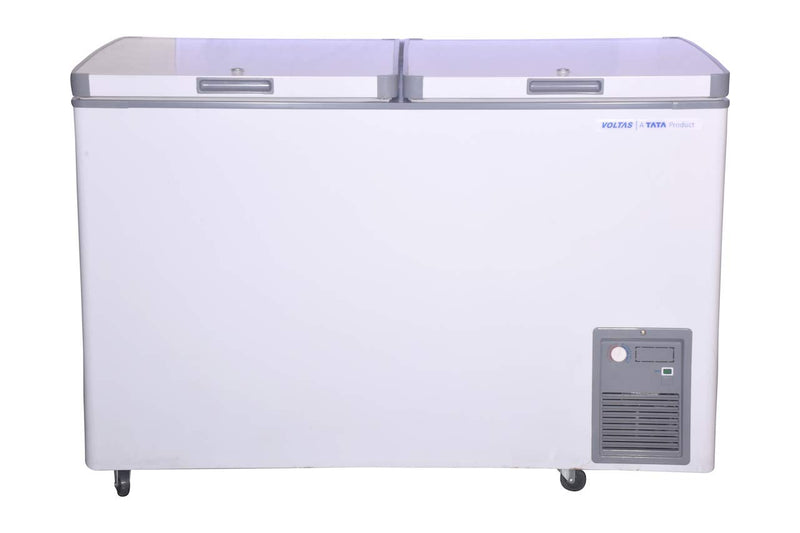 Voltas CF HT 320 DD P1 Double Door Deep Freezer, 320 Liters, White
