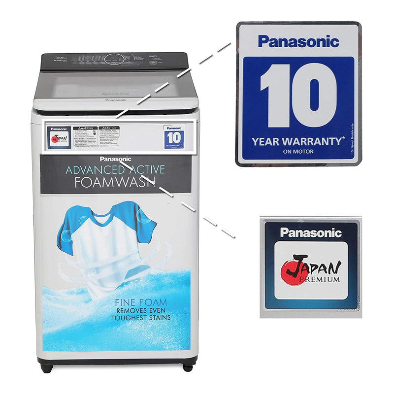 Panasonic 6.2 kg Fully-Automatic Top Loading Washing Machine (NA-F62A7HRB, Grey)