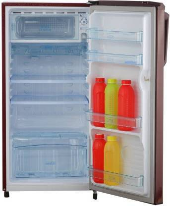 Haier 190 L Direct Cool Single Door 3 Star Refrigerator  (Red ornate, HRD-1903BRO-R/E) - DefenceElectronics