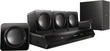 Philips HTD3509 / 94 300 W Home Theatre  (Black, 5.1 Channel)