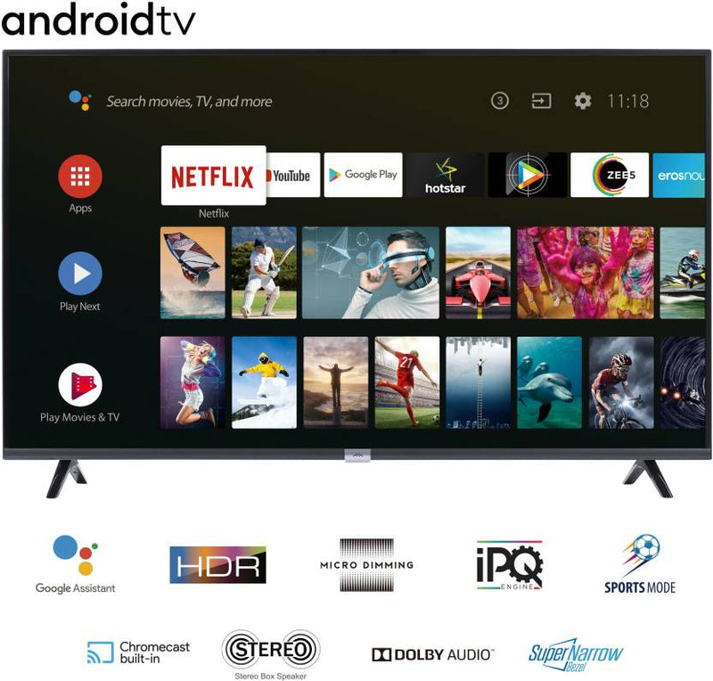 iFFALCON by TCL 79.97cm (32 inch) HD Ready LED Smart Android TV with Google assistant tv HDR 10 and Dolby Audio  (32F2A) - DefenceElectronics
