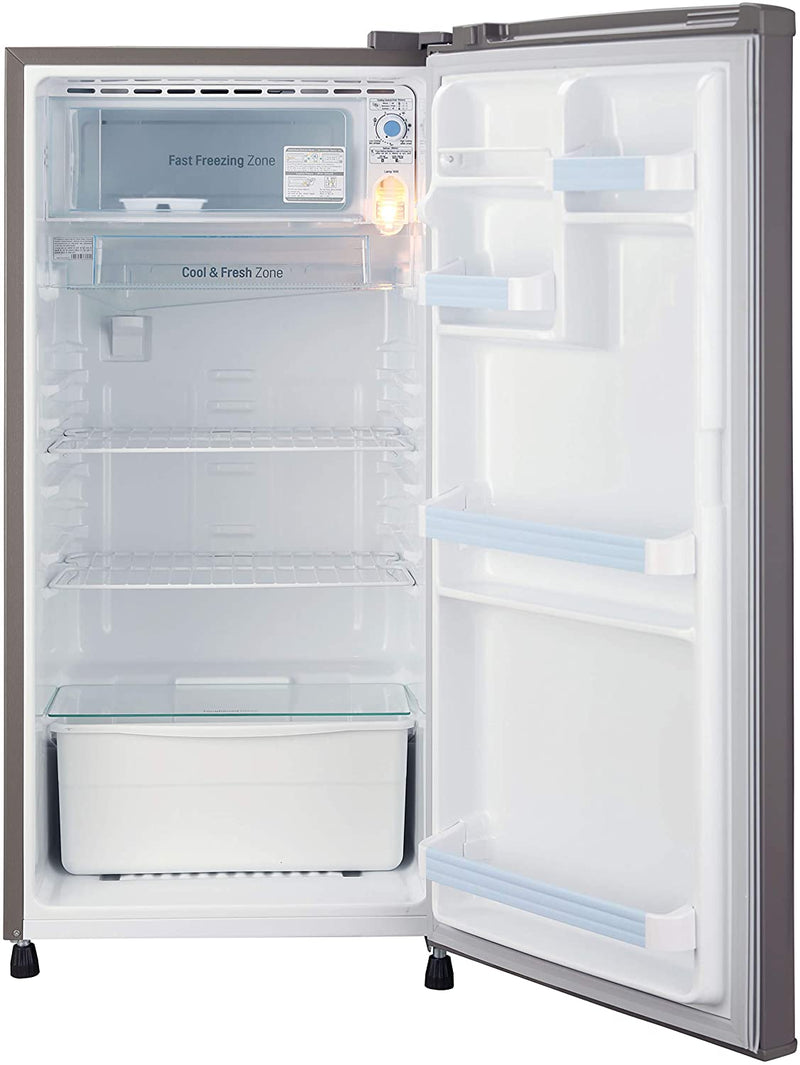 LG 185 L 1 Star Direct-Cool Single Door Refrigerator (GL-B181RDGB, Dim Grey, Fastest Ice Making)