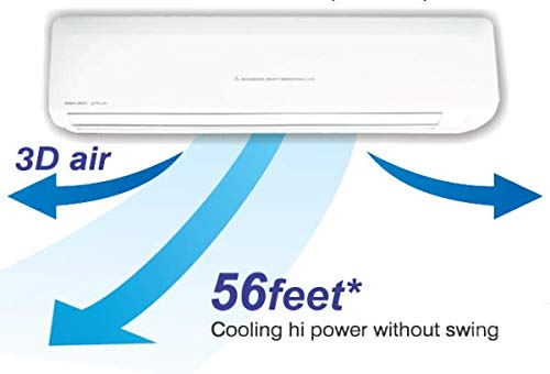 Mitsubishi Heavy Duty 2.2 Ton 3 Star Non Inverter Split AC (SRK25CSS, White) by Mitsubishi