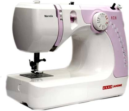 Usha New marvela pink Electric Sewing Machine ( Built-in Stitches 14)