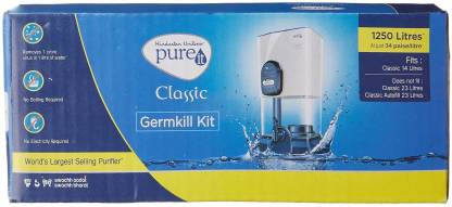 Pureit Germ Kill Kit Compact 1250 L Gravity Based Water Purifier  (White)