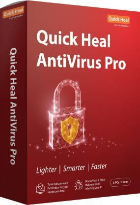 Quick Heal Anti-virus 3 User 1 Year  (CD/DVD) - DefenceElectronics