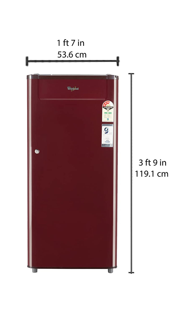 Whirlpool 190 L 3 Star (2019) Direct Cool Single Door Refrigerator(205 GENIUS CLS PLUS 3S WINE-E, Wine) 70660