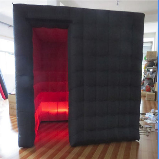 Inflatable 8.2 ft Prom Nice cabin Inflatable Photo Booth Party Backdrops Sales With LED Light equipment Portable Tent Wedding