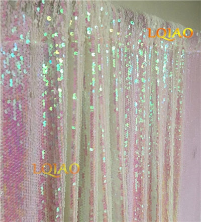 8FT*8FT Reversible Sequin Backdrop for Wedding Photo Booth Backdrop Sequin Curtain Party Background Decoration-Black and Silver