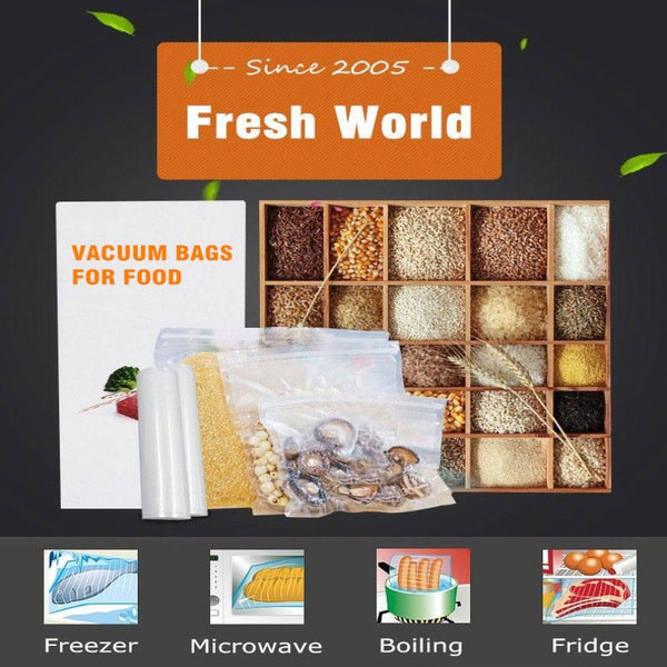 Food Sealer Bags Vacuum Machine and Microwave - The Free Wild Soul