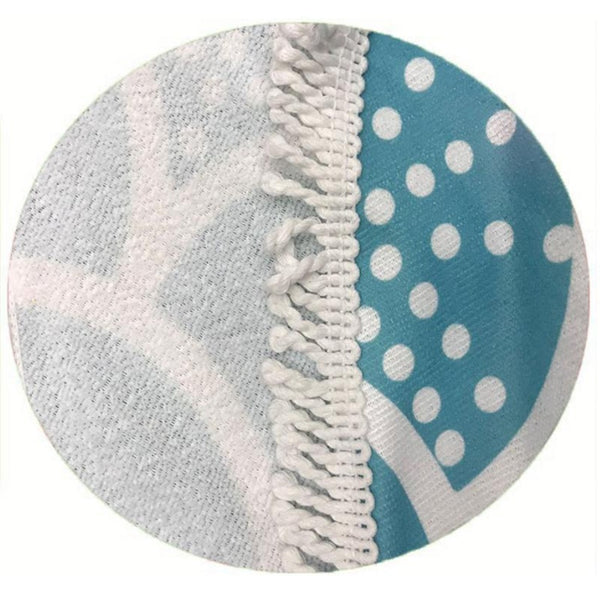 Round Microfiber Beach Towel 150x150 cm Ocean Lovers - The Free Wild Soul