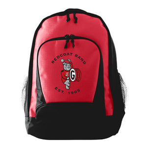 Georgia Redcoat Band Embroidered Red Backpack
