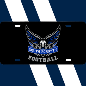South Forsyth Black Decal Car Tag school logo