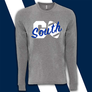 "South Forsyth War Eagles ""GO SOUTH"" Long Sleeve Grey"
