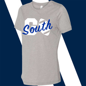 South Forsyth Women's Go South screen print Relaxed Tri-blend Tee