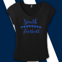 Load image into Gallery viewer, South Forsyth Women's Screenprint Drapery Cross-back Tee