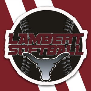 Lambert Softball Magnet